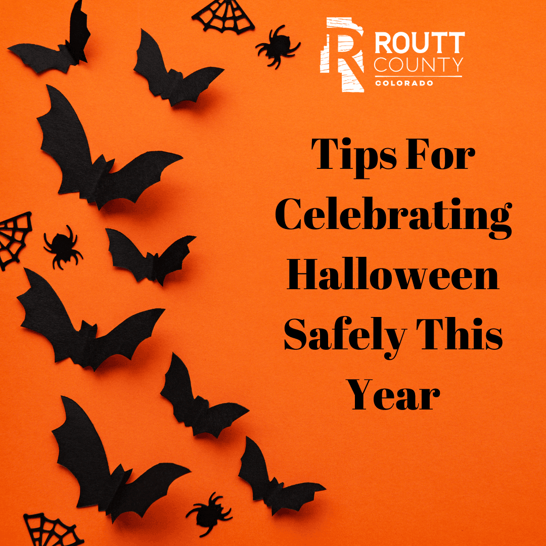 Tips For Celebrating Halloween Safely This Year with bats background