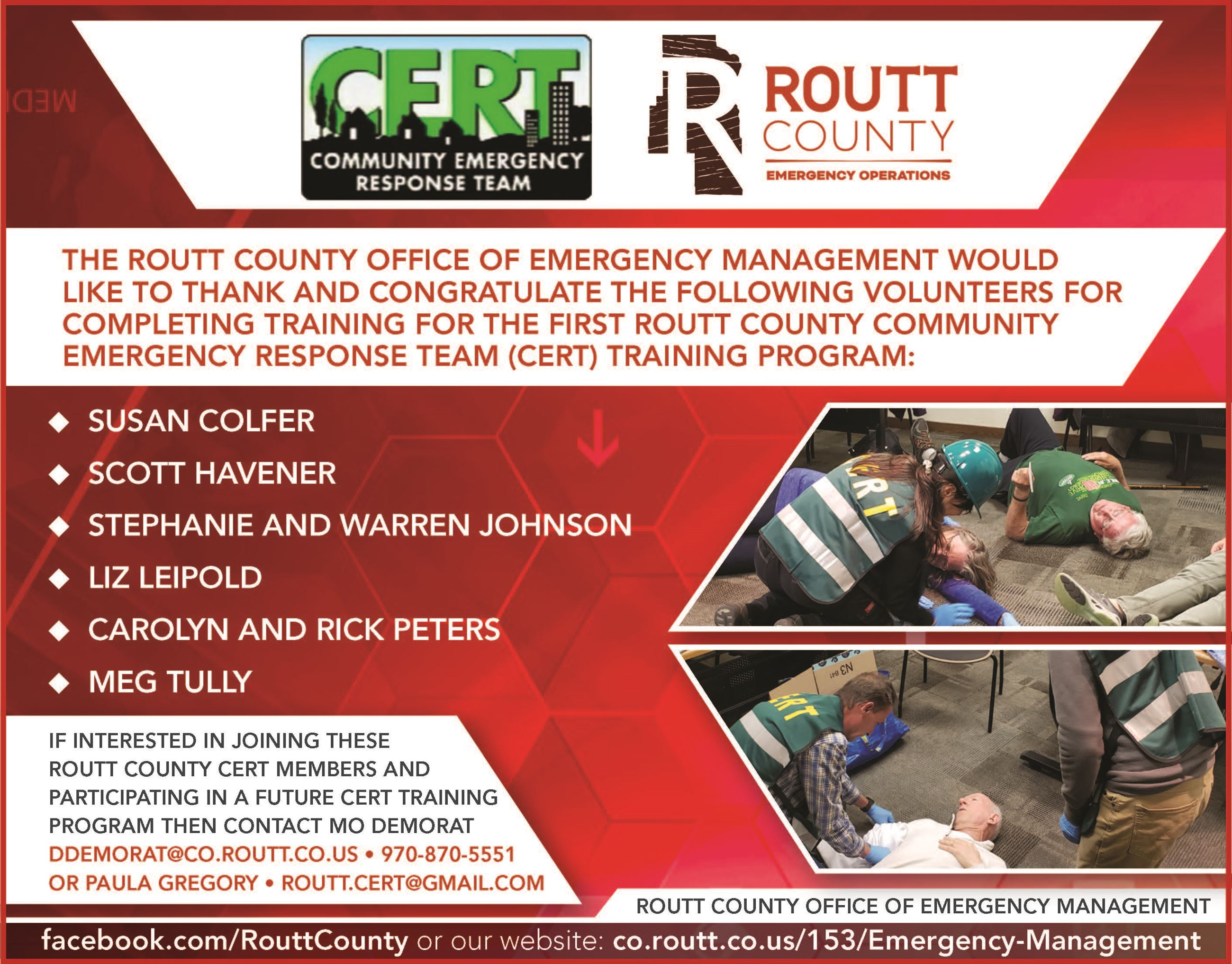 May 2019 CERT Training Class